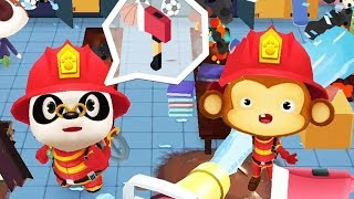 Little Panda Fireman - Play a Fire Truck And Use Rescue Gear - Gameplay Android /ios