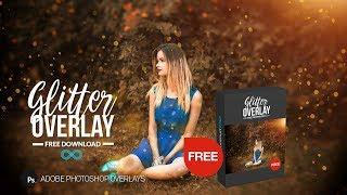 Free Golden Glitter Photoshop Overlay to Download