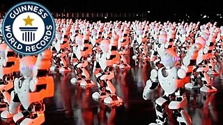 Most robots dancing simultaneously - Guinness World Records
