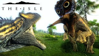 The Isle Realism - ALLO PAIR COME ACROSS UNEXPECTED TRIKE SURPRISE, HYPO SPINO SIZE ( Gameplay )