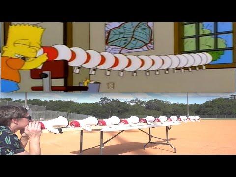 Bart Simpson Megaphone Challenge