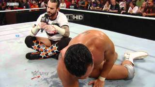 Raw - CM Punk forces Alberto Del Rio to agree to a WWE Title Match at Survivor Series