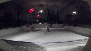 Eloan Le Gallic -2009 -  Hockey backyard rink - Fun with my Dad