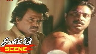 Rajinikanth Argues with Mammootty to Leave Aravind Swamy - Dalapathi Movie Scenes