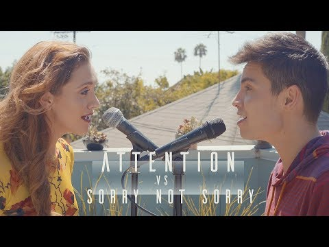 Download Attention vs. Sorry Not Sorry (Charlie Puth/Demi Lovato MASHUP) - Sam Tsui & Alyson Stoner On VIMUVI.ME