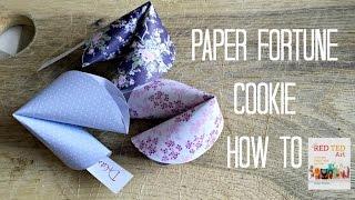 Easy Paper Fortune Cookies Tutorial DIY