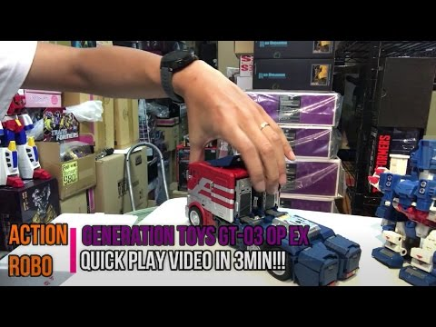 【AR 】 Generation Toy GT-03 OP EX quick play video in 3min!!!