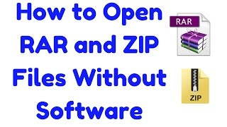 [HINDI] How to Open RAR and ZIP Files Without Downloading Software