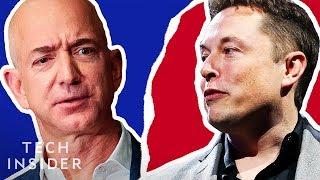 The Elon Musk-Jeff Bezos Feud, Explained