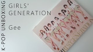 Unboxing Girls's Generation Gee Japanese Single (CD+DVD)