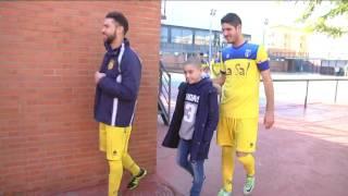El mundo del fútbol sigue solidarizado con el niño que padece leucemia