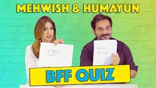 Best Friends Forever (BFF) Quiz with Humayun Saeed & Mehwish Hayat | MangoBaaz