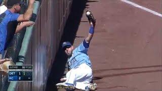 MLB Amazing Foul Catches