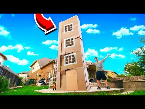 4 STORY MEGA MANSION BOX FORT 50FT TALL