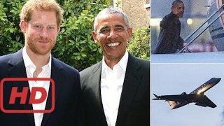 When Harry met Barack: Obama jets to London for meeting with the prince