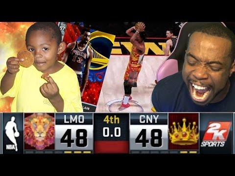 CRAZY BUZZER BEATER! Vs 10 Year Old Trash Talker! NBA 2k16 MyTeam Diamond Wilt Debut!