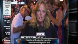 July 08, 2010 - ESPN - Various Players & Fans on Lebron Free Agency Choice