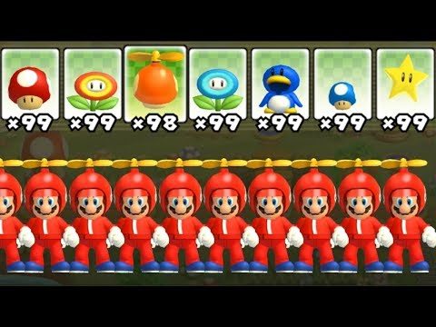 Xxx Mp4 New Super Mario Bros Wii All Power Ups With Multiple Marios 3gp Sex