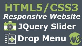 How To Make A Website Start To Finish - Responsive HTML5/CSS3, Image Slider & Drop Down Menu