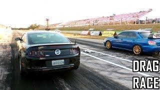 Muscle vs Import - Mustang GT 5.0 and Subaru WRX/STI