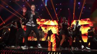 Justin Timberlake introducing: Can't stop the feeling (intro: Rock your body) Eurovision Stockholm