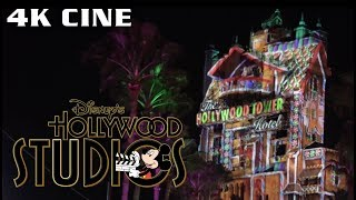 Toy Story Land at Night + Tower of Terror Projection Show | Disney's Hollywood Studios