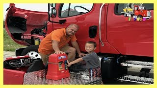 Kruz Putting Fuel In A Freightliner Rollback Little Tikes Cozy Coupe Gas Pump