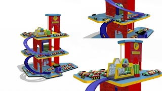 Parking garage play set for children - car wash - playland - cars for kids - toys for children