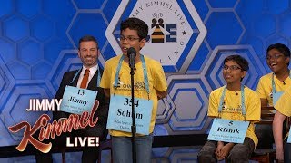 Jimmy Kimmel vs. 12, 13 & 14 Year Old Spelling Bee Winners