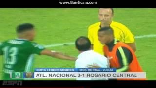 Atletico Nacional vs Rosario Central 3-1 (3-2) Copa Libertadores 2016 - Cuartos de Final VUELTA