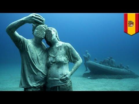 Underwater museum: Europe's first permanent underwater art project opens in Spain - TomoNews