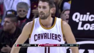 Kevin Love ON FIRE 34 Points in 1st Quarter   11.23.16