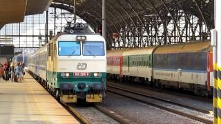 Elektrická lokomotiva 150.209-5. Praha hlavní nádraží