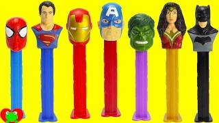 Spiderman, Hulk, Batman Pez Candy Dispensers