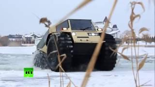 Mobil canggih Truk militer Rusia  melibas segala medan, badass lunar rover like truck storms swamps