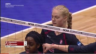 Stanford v Wisconsin, 12/10/2016 Women's Volleyball Regional Final