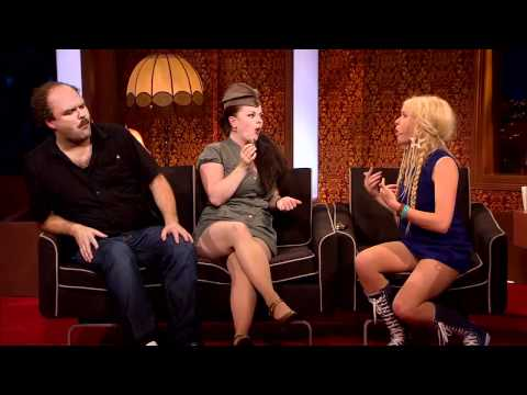 Upskirt TV guest s at Ylvis TVshow in Norway. With Katzenjammer.