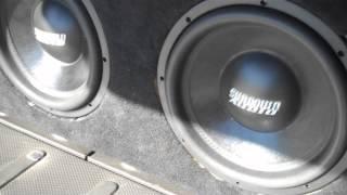 "2 12"" Sundown Audio SA12s BASS BALLIN' and FLEXING!"
