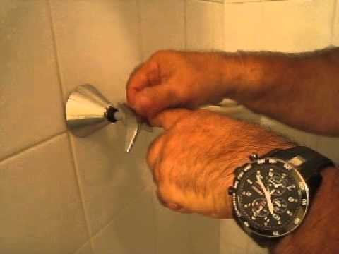 Changing shower taps