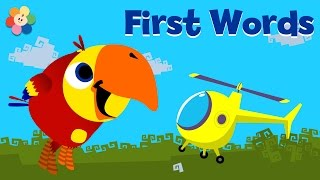 Learning Words for Toddlers | Cartoons for Kids to Learn | Helicopter | VocabuLarry - BabyFirst TV