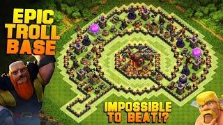 Clash of Clans | Phenomenal TH10 Troll Base | The Island | EPIC MINI GAME MODE?! [TH10 Base 2016]