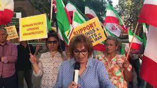 همبستگی ایرانیان ازاده با قیام مردم ایران - سیدنی ۲۴ دی                   .