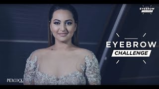 sonakshi sinha takes on the eyebrow challenge
