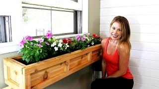The $20 Window Planter Box - Easy DIY Project