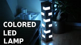 How To Make A Colored LED Lamp From Pallet Wood Blocks