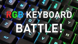 3-Way Mech RGB Keyboard Battle: Blackwidow Chroma v2, K70 RGB Rapidfire, BlasterX Vanguard K08