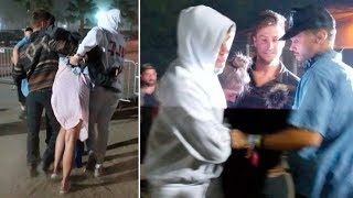 Victoria's Secret Model Taylor Hill Can't Even Walk [Shocking!] After Coachella Neon Carnival