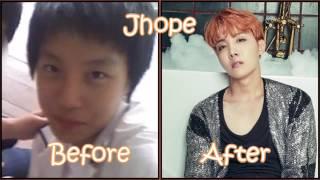 Antes y después bts