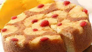 Pineapple Upside Down Cake | Easy 3 step recipe