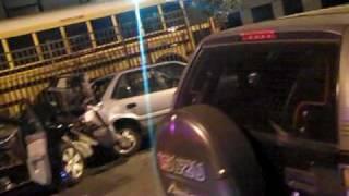 Drunk Driver Car Crash Aftermath